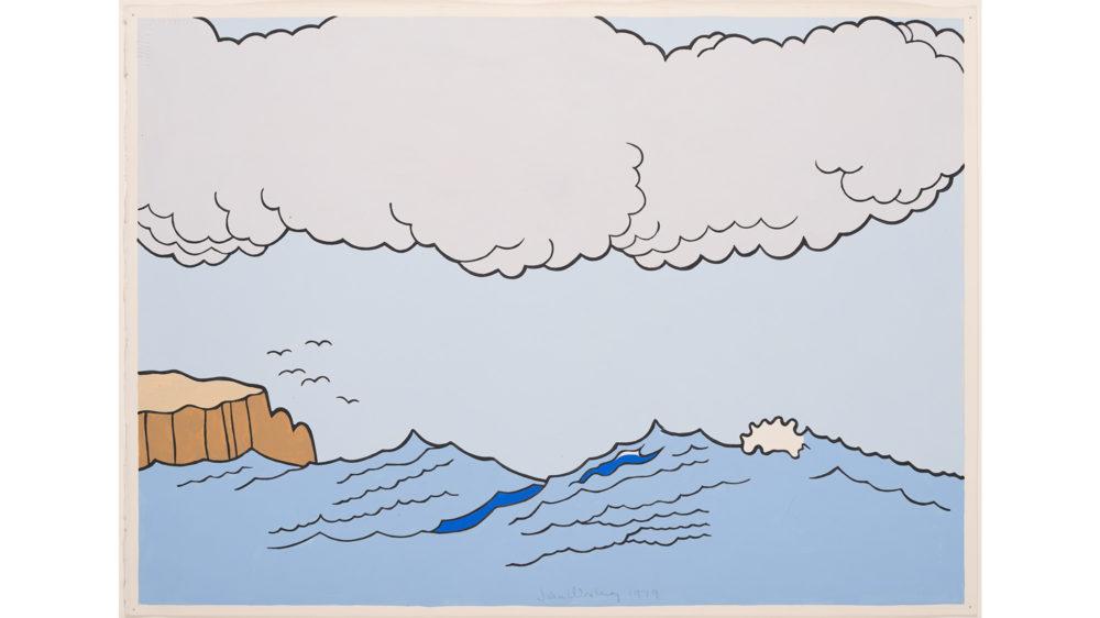 John Wesley, Untitled (Ocean), 1979