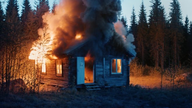 Ragnar Kjartansson, Scenes from Western Culture, Burning House, 2015