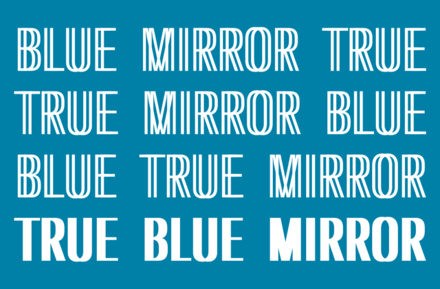 True Blue Mirror graphic