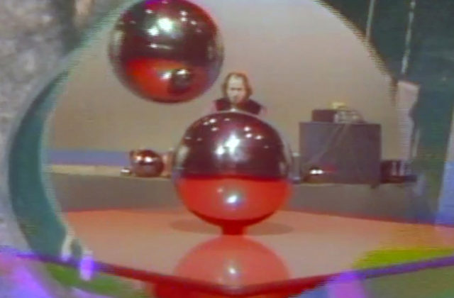 Still from Music with Balls, Terry Riley & Arlo Acton, c. 1968-1969