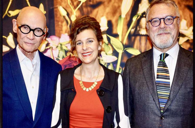 Di Rosa executive director Robert Sain (left) with Centennial Gala honorees artist Meghann Riepenhoff and philanthropist Nion McEvoy Feb. 2, 2019.Photo: Catherine Bigelow / Special to The Chronicle