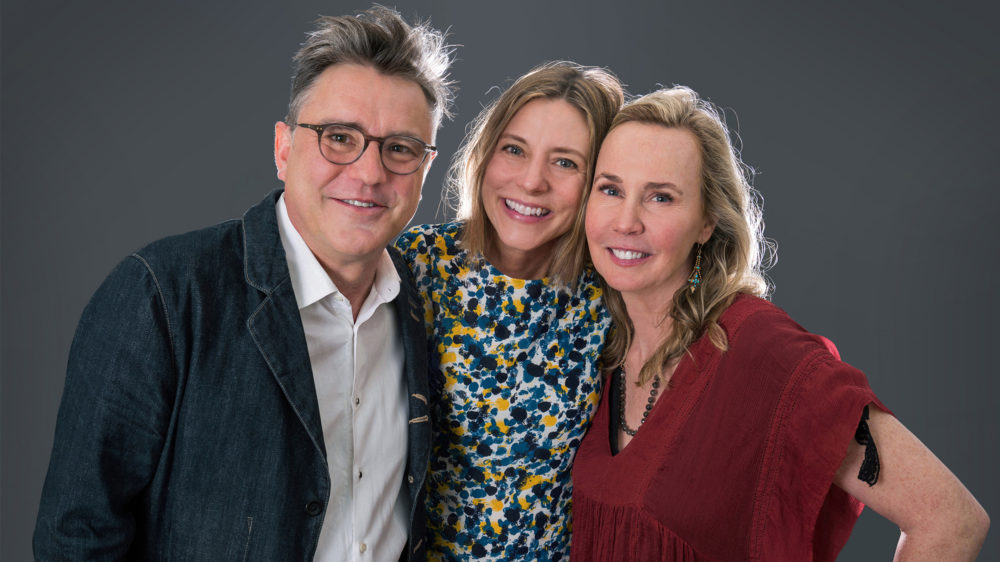 Marc Capelle, Beth Lisick, and Arline Klatte of Porchlight storytelling series. Photo by Amy Sullivan