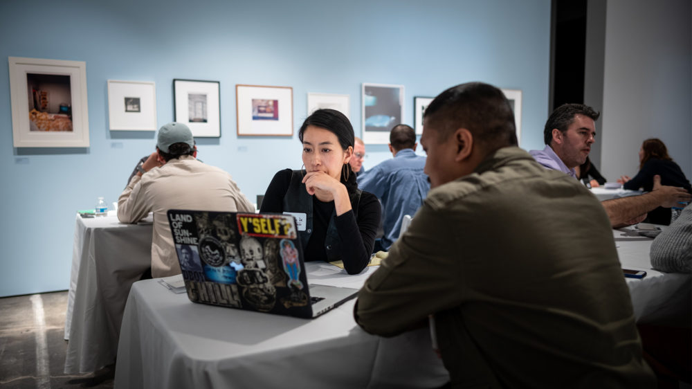 Participants at the CatchLight Visual Storytelling Summit and Portfolio Review at the McEvoy Foundation for the Arts, April 7, 2019. Photo by Jim Koenigsaecker / © Jim Koenigsaecker