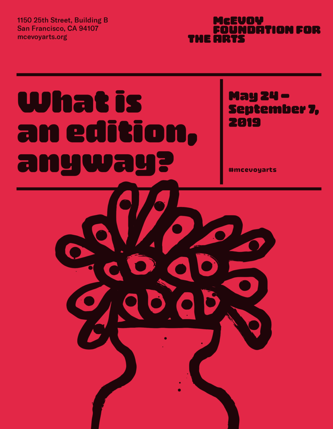 What is an edition, anyway? poster illustration by Tucker Nichols