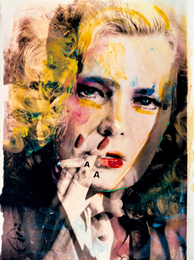 Lynn Hershman Leeson Rowlands/Bogart (Female Dominant), 1982, from the series Hero Sandwich. Hand-painted collage Courtesy the artist and Bridget Donahue, New York