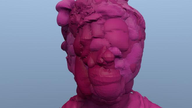 Zach Blas Facial Weaponization Communiqué: Fag Face, 2012, digital video, color, sound, 8 min. Courtesy the artist
