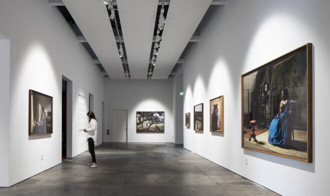 Installation view, Lessons of the Hour, (October 14, 2020 – March 13, 2021), McEvoy Foundation for the Arts, San Francisco. Photo by Henrik Kam