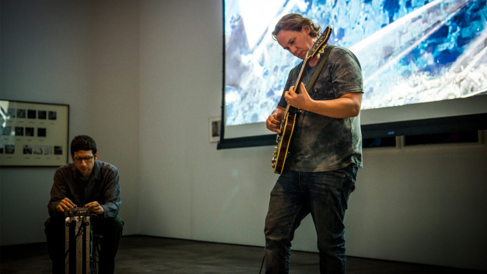 No Age performs Score for the Day Before, curated by Jonn Herschend on the closing day of the exhibition What is an edition, anyway? at McEvoy Foundation for the Arts, San Francisco (September 7, 2019). Photo: Pat Mazzera