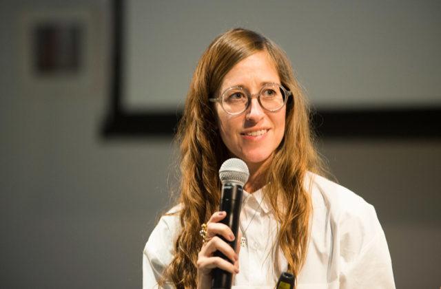 Alison O'Daniel in conversation with Tanya Zimbardo at McEvoy Arts, San Francisco (July 21, 2019). Photo: Pat Mazzera