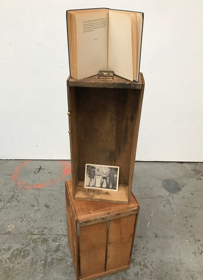 Alison Pebworth, A Short History of Women, 2020, vintage wood and paper ephemera. Dimensions variable. Courtesy the artist