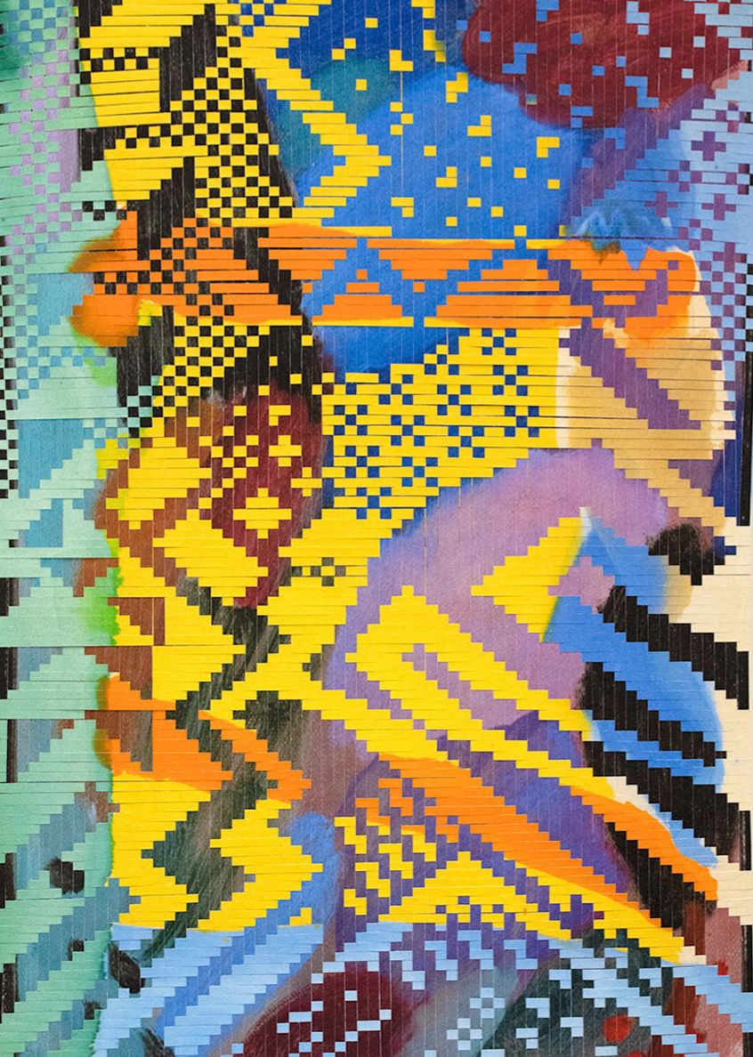 Miguel Arzabe Tampa, 2019 Woven archival inkjet prints on canvas 50 x 30 inches Courtesy the artist