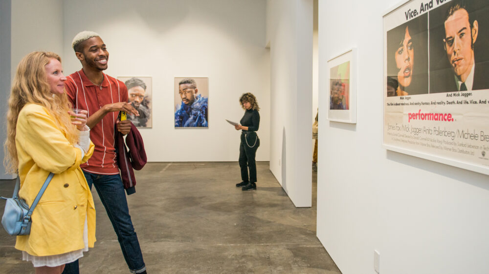 Visitors at the opening reception for Orlando (February 7 – September 5, 2020), McEvoy Arts, San Francisco. Photo: Pat Mazzera