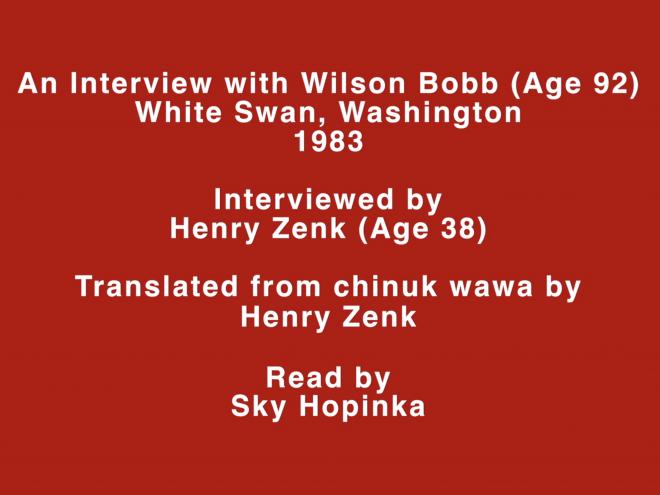 Sky Hopinka Wawa, 2014 HD video, color, sound 6 min. Courtesy of the artist