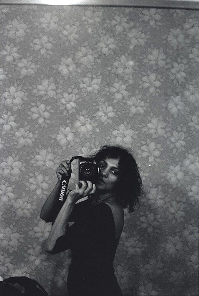 Ming Smith Untitled (Self-Portrait with Camera), New York, NY, 1989 Gelatin silver print. Courtesy of the artist and Jenkins Johnson Gallery, New York and San Francisco